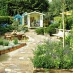 voorbeeldtuin voor het blauwgroene tuintype