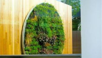 verticale tuin in dhotel in kortrijk - belgie