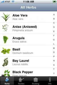 iphone app voor de tuin - herbs en kruiden