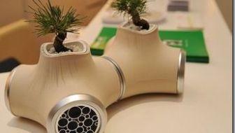 tuin gadgets - Bonsai boompjes in ipod Speakers