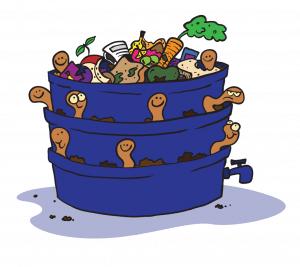 wormenbak vermicultuur voor super compost