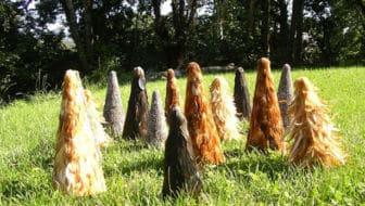 kerstboom van kippenveren - verzameling