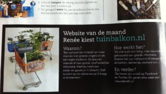 home and garden magazine - tuin en balkon website van de maand - cover