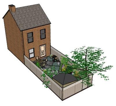 Maak gratis je eigen tuinontwerp met sketchup tuin en balkon for Huis in 3d ontwerpen