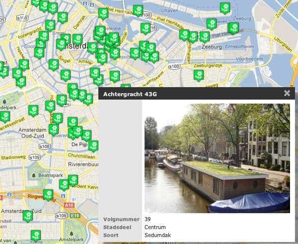 groene daken in Amsterdam