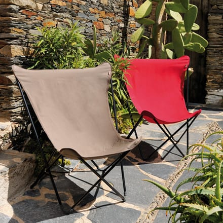 Deze Inklapbare stoelen van Lafuma zouden zo uit de sixties kunnen komen, must have voor een echt Mad Man!