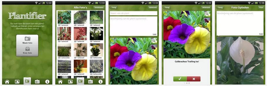 herken een plant app - plantifier app