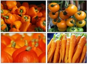 oranje groente