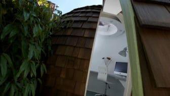Dit design tuinhuisje / kantoortje  is geweldig