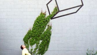 Groene straatkunst waar je niet aan voorbij loopt