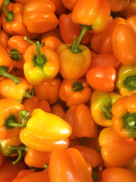 Prachtige oranje paprika's!