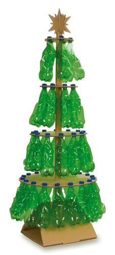 kerstboom-van-petflessen