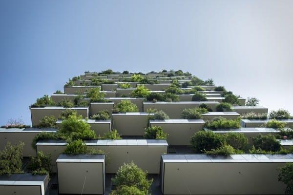 balkons met planten