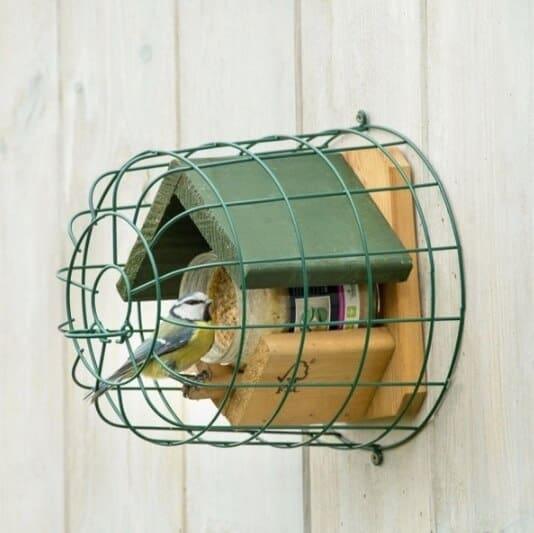 pindakaaspot beschermkooi voor kleine vogels